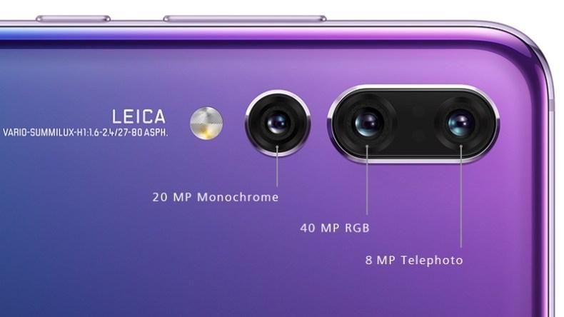 Triple Camera Setup In HUAWEI P20 Pro