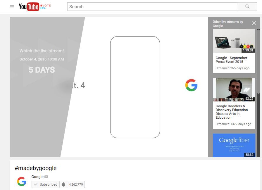 Google schedules Oct. 4 live stream