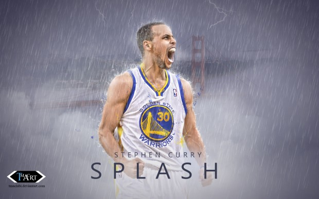 Stephen Curry Splash Wallpaper by tmaclabi.