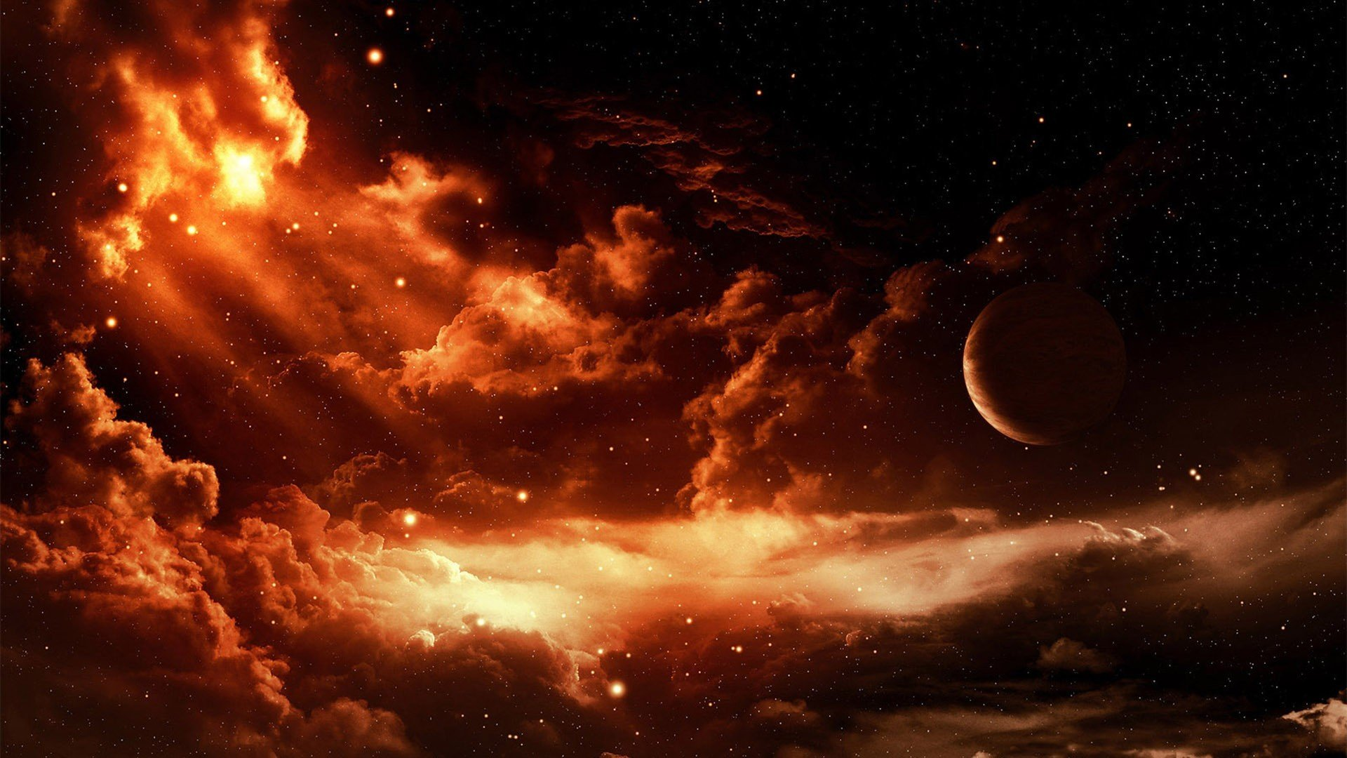 Red Moon Wallpaper HD