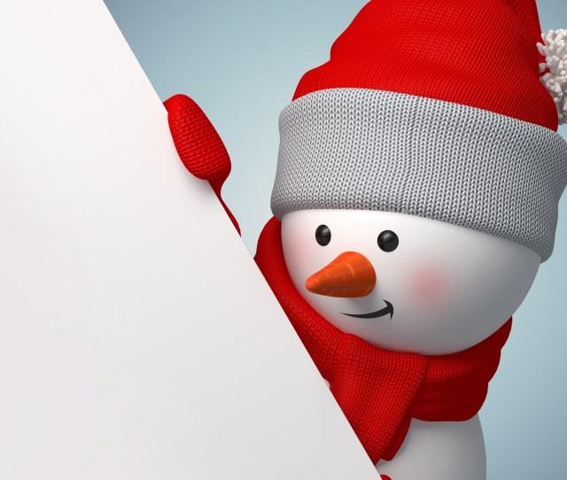 D Snowman Wallpaper