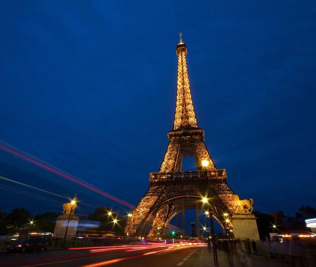 Eiffel Tower At Night Wallpaper For Desktop