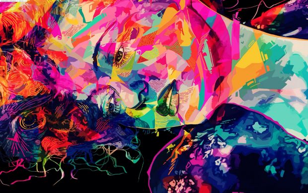 Abstract colorful girl backgrounds.