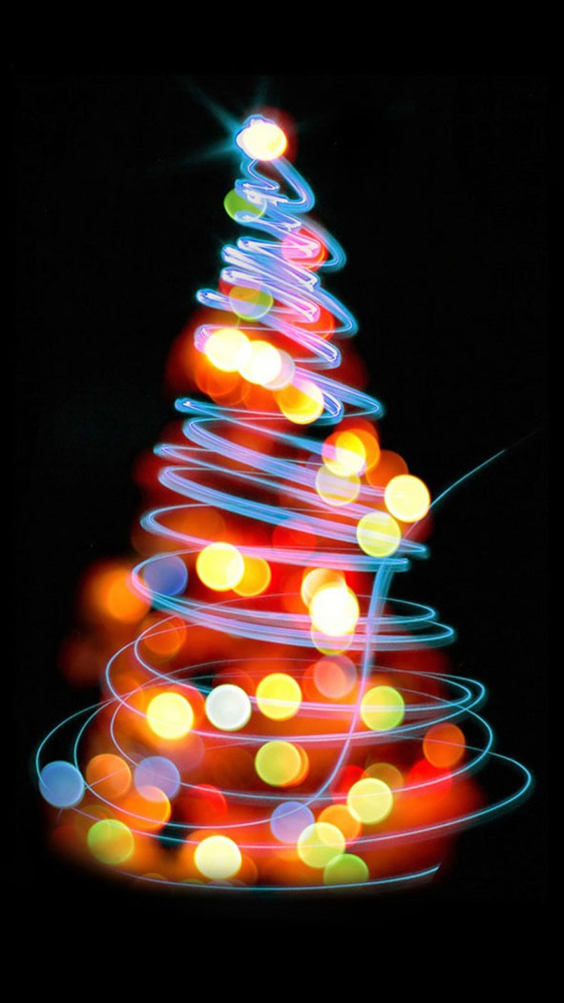 christmas lights iphone wallpapers pixelstalk net