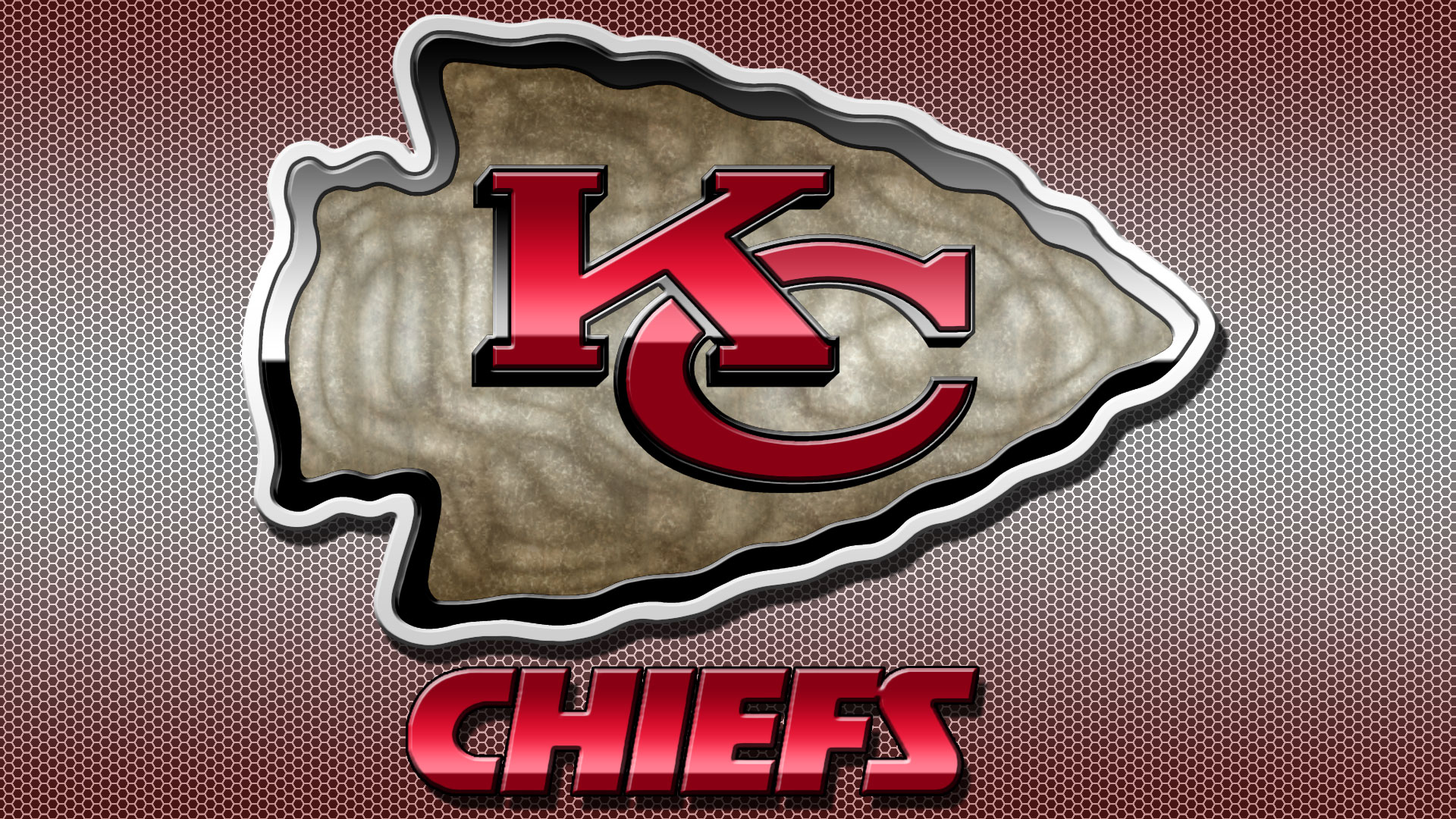 The redesigned kansas city chiefs logo features the figure with six states of the usa as a backdrop. Kansas City Chiefs Logo Wallpaper   PixelsTalk.Net