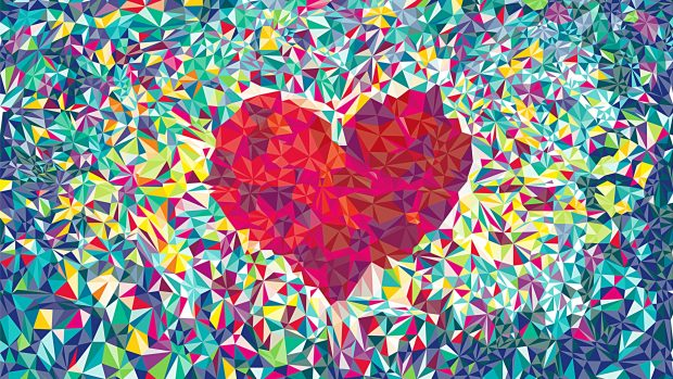Romantic Love Colorful Abstract Wallpaper HD.