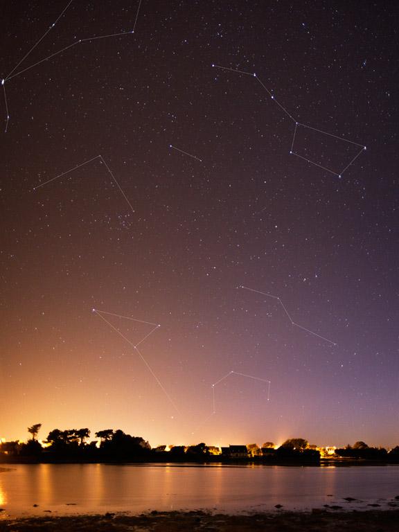 Regulus and Ursa Major Constellations