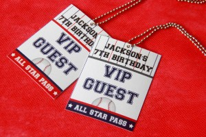 Baseball Party VIP Passes by Pixiebear Party Printables