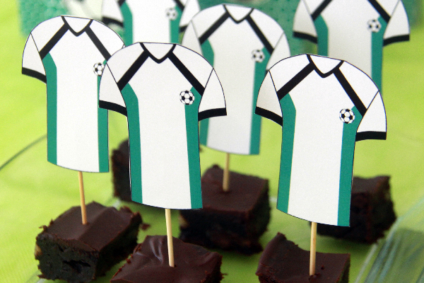 Soccer Party Toppers by Pixiebear Party Printables