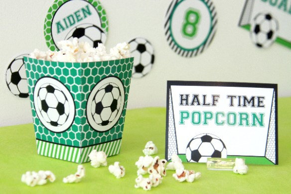 Soccer Birthday Decorations by Pixiebear Party Printables