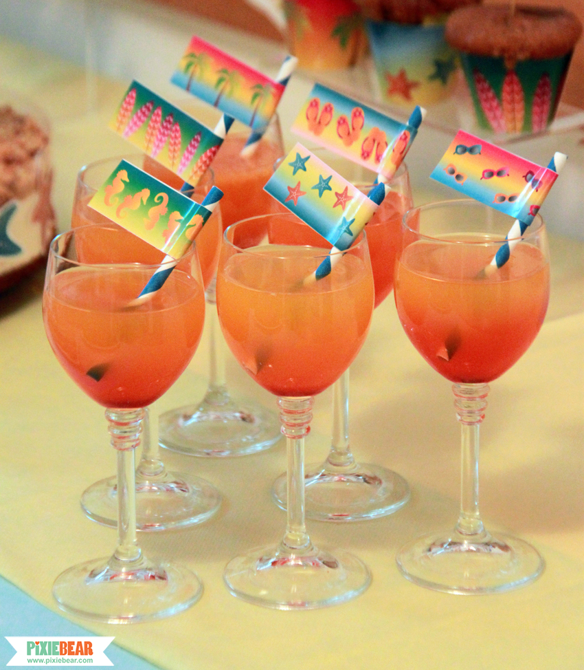 How to make ombre drinks pixiebear party printables for Summer drinks for party