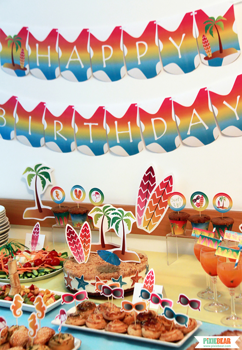 Summer Beach Party Ideas Pixiebear Party Printables