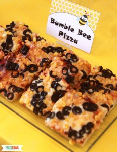 Bumble Bee Pizza Tutorial by Pixiebear Party Printables