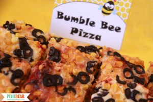 How to Make a Bumble Bee Pizza by Pixiebear Party Printables