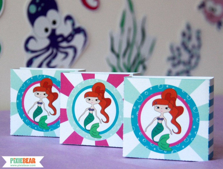 Mermaid Party Favor Boxes by Pixiebear Party Printables