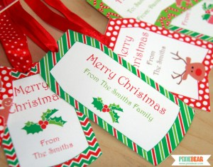 Printable Christmas Tags by Pixiebear Party Printables