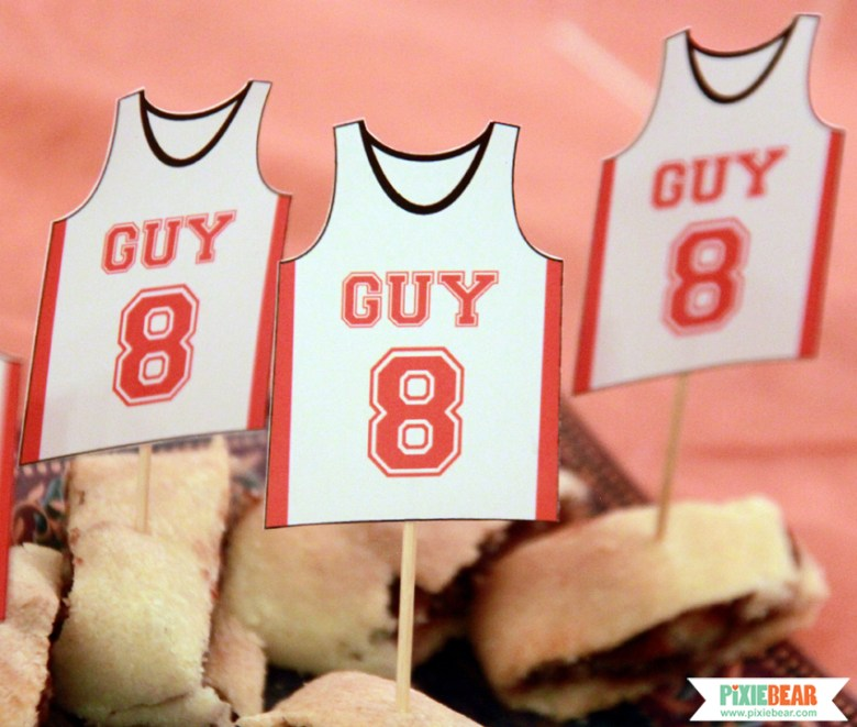 Printable Basketball Party Decorations by Pixiebear Party Printables