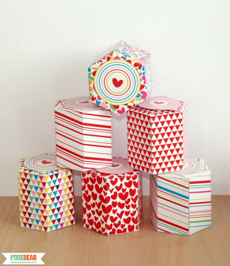 Printable Valentine's Favor Boxes by Pixiebear Party Printables
