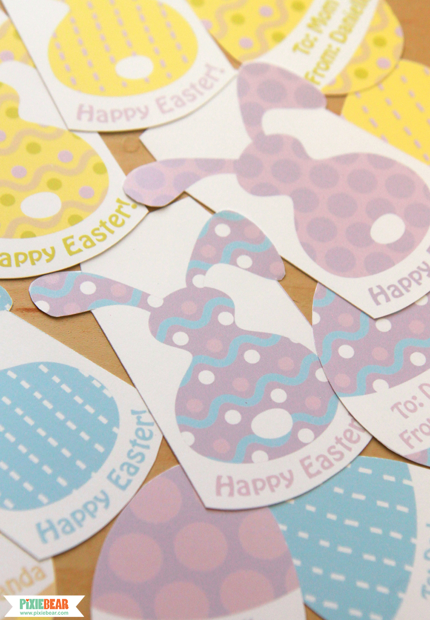 Party invitations pixiebear party printables these colorful patterns and bunny images are also used for this easter gift tags which come with the digital scrapbook papers i mentioned above negle Images