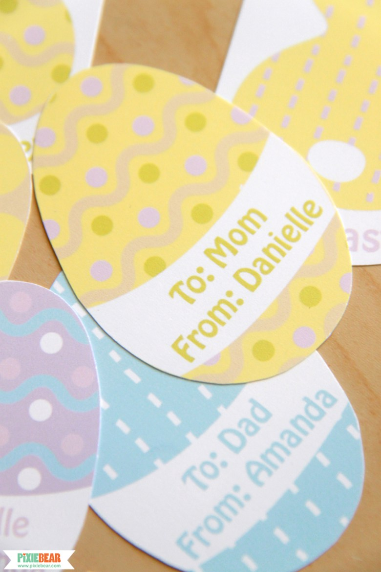 Editable Easter Gift Tags by Pixiebear Party Printables