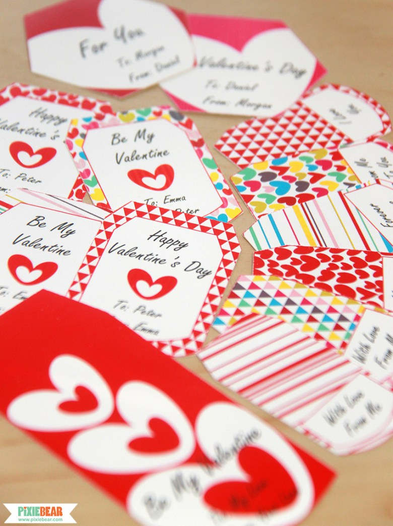 Printable Valentine's Day Gift Tags by Pixiebear Party Printables