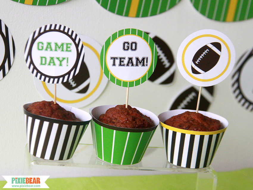 Super Bowl Party Ideas by Pixiebear Party Printbales
