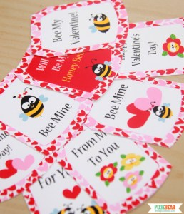 Personalized Valentines Day Gift Tags by Pixiebear Party Printables