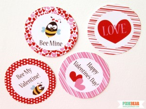Printable Valentines Day Decor by Pixiebear Party Printables