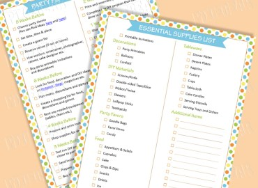 The Party Checklist by Pixiebear.com