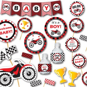 Dirt Bike Baby Shower by Pixiebear