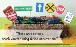 Transportation Birthday Decorations by Pixiebear Party Printables