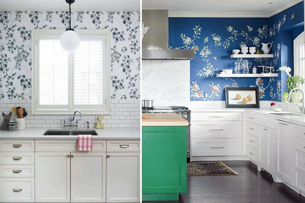 Fabulous Kitchen Wallpaper Ideas kitchen wall decoration ideas with wallpapers