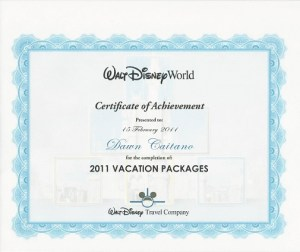 Disney Certificate of Achievement