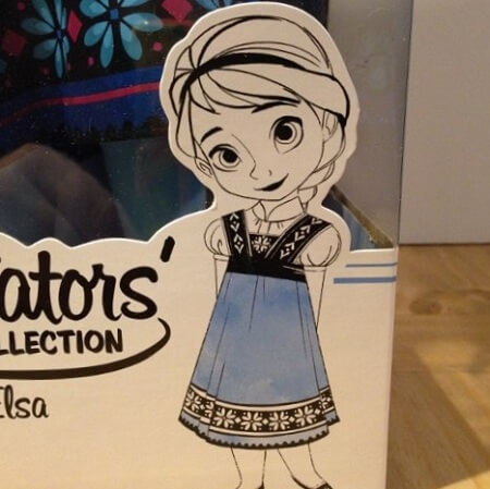 Sketch on Disney Animator doll box.