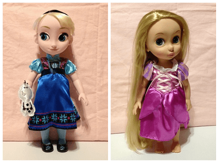 Disney Animator Dolls: Elsa and Rapunzel.