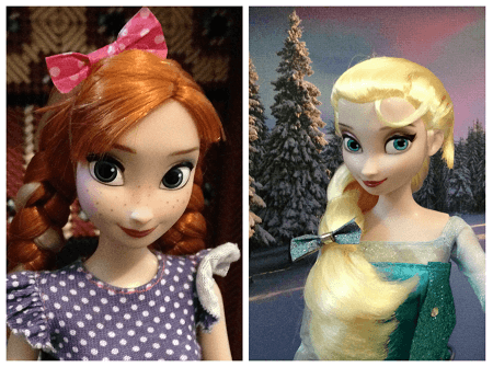 Elsa And Anna With Washi Tape Hair Bows