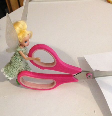 Tinkerbell doll cutting out pages.
