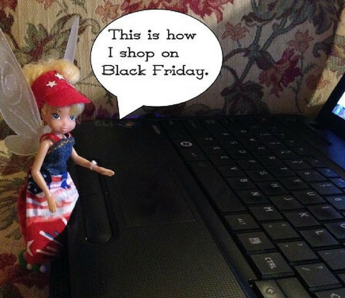 Doll Photo Story: Tink Shopping On Computer