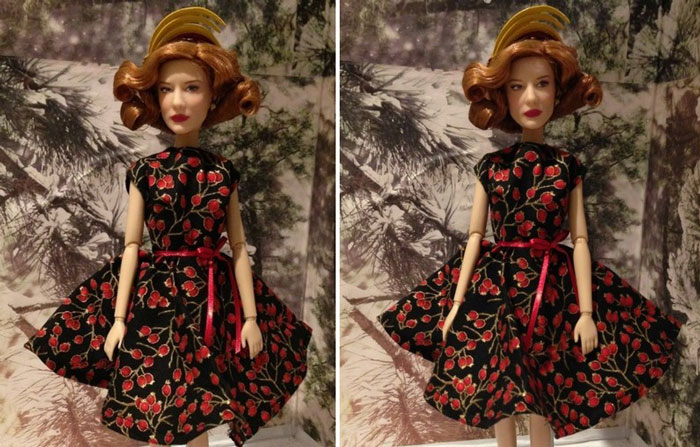 Lady Tremaine Doll Wearing Black And Red Dress