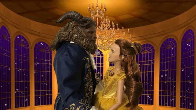 Image Of Belle And Beast Dolls Dancing