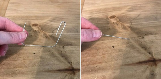 Unbend And Cut A Paper Clip