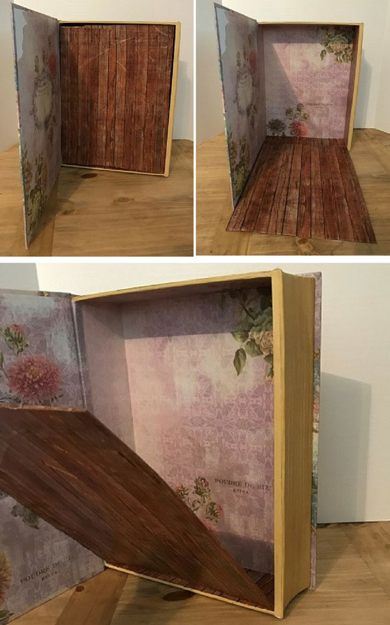 Decorative Box With Folding Floor For Doll Room