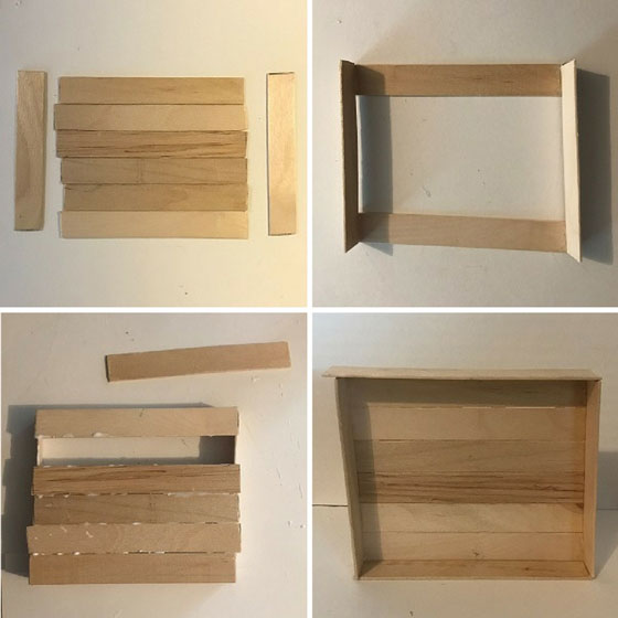 Doll Shelving Unit Made From Popsicle Sticks