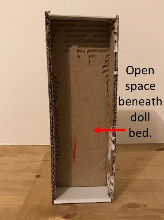 Open Space Beneath Doll Bed