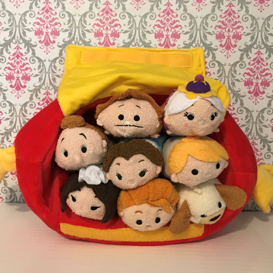 Review Of Beauty And The Beast Mini Tsum Tsum Plush Set With Tote.