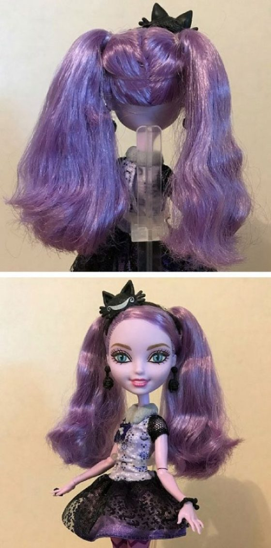 Kitty Cheshire Doll After Having Hair Combed