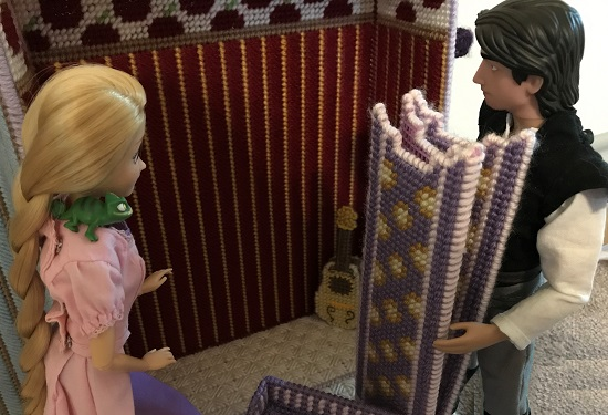 Rapunzel Sees Her Guitar In The Corner Of Case