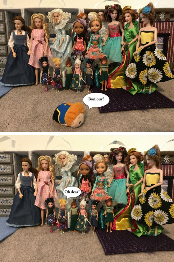 """Doll Photo Story: The Tsum Tsum Prince """"Walks"""" By--Tink Realizes Her Mistake"""