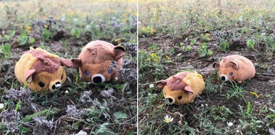 Image of Bambi and Faline tsum tsums in grass.