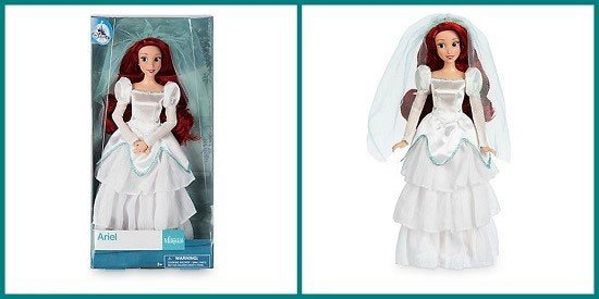 Disney Store Classic Ariel Doll In Wedding Dress (2017 version).